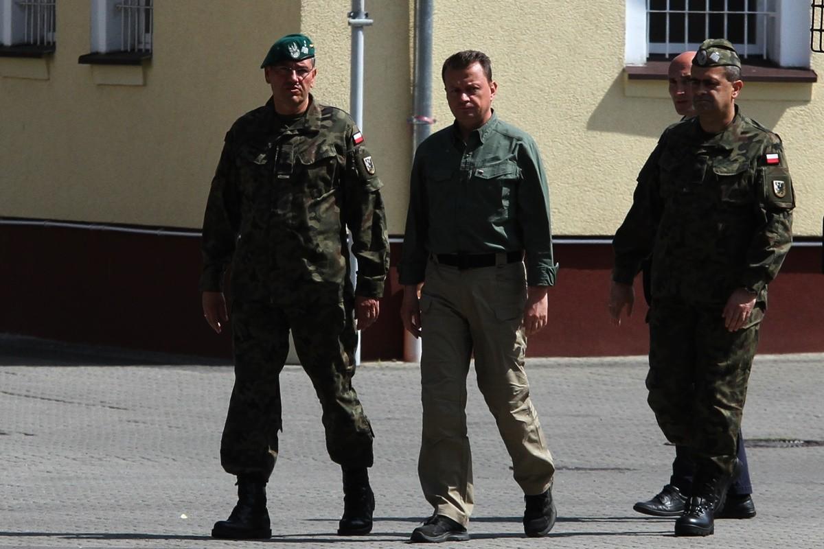 gen. bryg. Dariusz Łukowski, Mariusz Błaszczak, gen. dyw. Dariusz Ryczkowski - SF