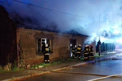 pożar Mąkowarsko - OSP KSRG Mąkowarsko-3