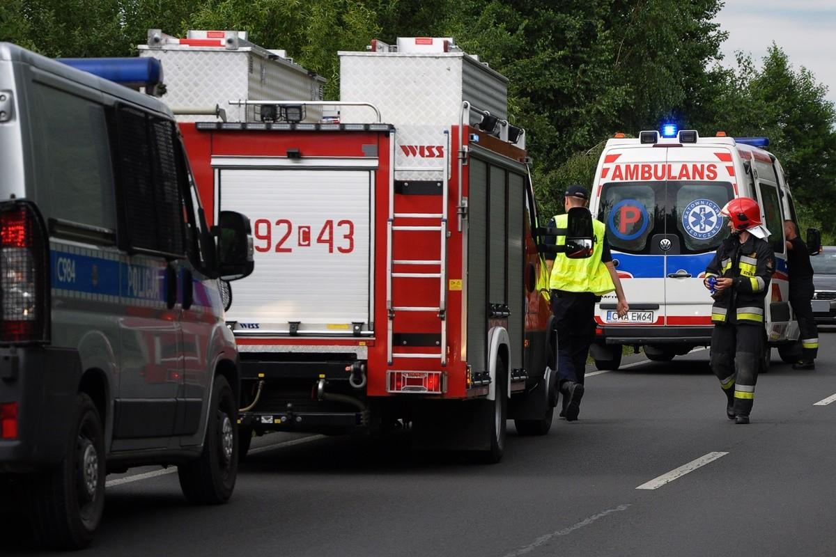 policja, ambulans, straż pożarna - na sygnale - MR