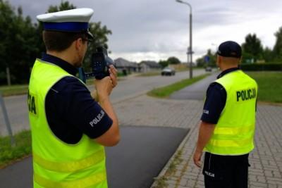 policja - kaskadowy pomiar prędkości - KPP Świecie