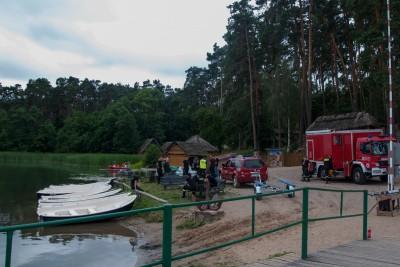 straż pożarna_ poszukiwania jezioro Chomiąskie - nadesłane