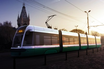 tramwaj Pesa - dostawa do Rumunii - wizualizacja