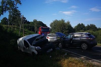 wypadek - DK25 Buszkowo - OSP KSRG Mąkowarsko