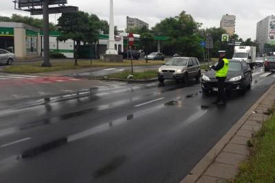 wypadek - potrącenie pieszej Toruń - KMP Toruń