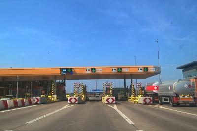 Bramki wjazdowe - autostrada A1, Lubicz - SF