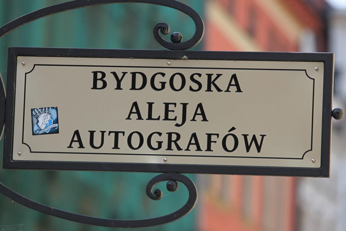 Tabliczka - Bydgoska Aleja Autografów - SF