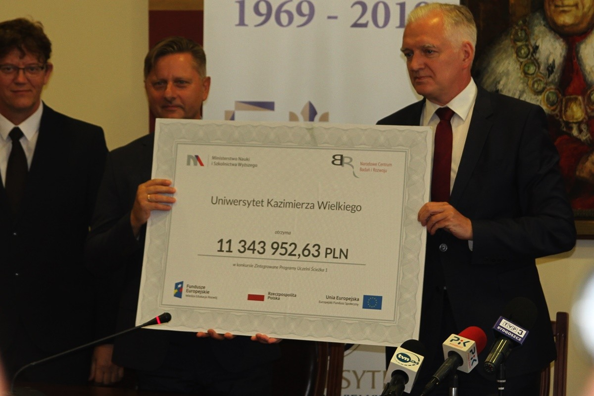 prof. Jacek Woźny, Jarosław Gowin - konferencja UKW Bydgoszcz - SF