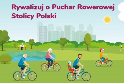 rowerowa stolica polski, plakat - umb