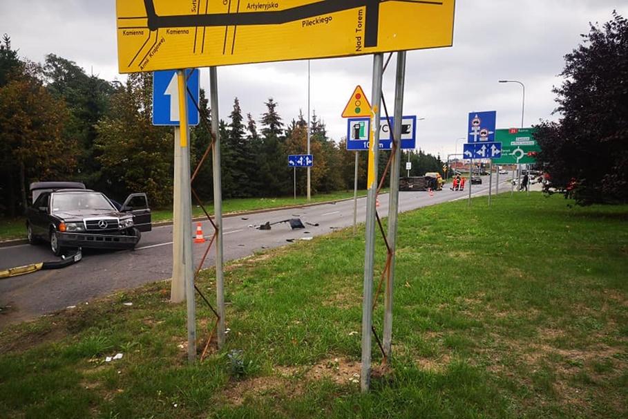 13-09-2019_ wypadek - rondo Maczka, nad Torem Bydgoszcz - Krystian Andruszczenko-3