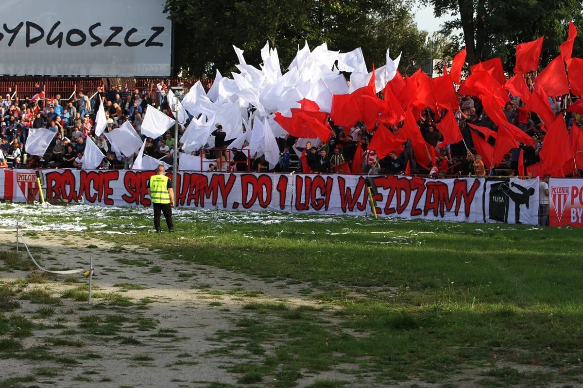 15-09-2019_ Polska Liga Żużlowa (2 Liga)_ Finał-rewanż Zooleszcz Polonia Bydgoszcz - Power Duck Iveston PSŻ Poznań - oprawa kibiców - SF