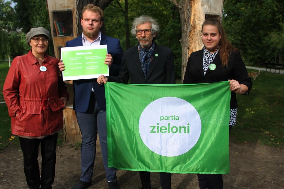 17-09-2019_ konferencja prasowa Zieloni - Ewa Sufin-Jacquemart, Piotr Malich, Marek Kossakowski, Aleksandra Malich - SF