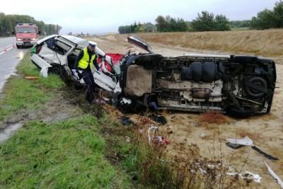 30-09-2019_ wypadek DK91 - Święte - KPP Świecie (4)