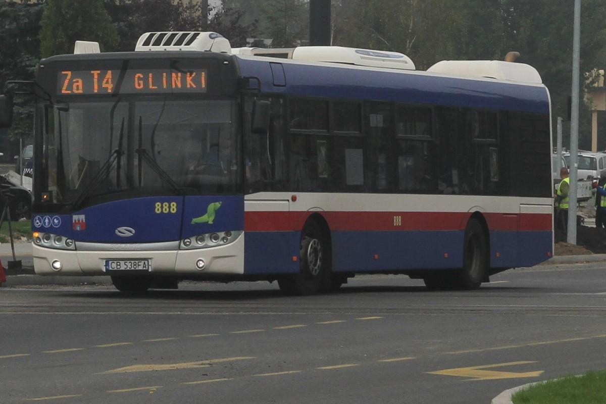 Autobus - linia za T4, kierunek Glinki - SF