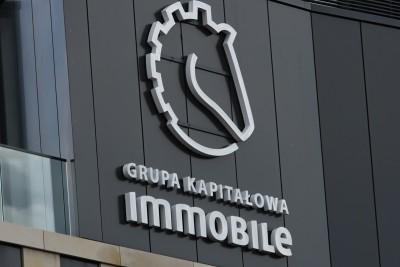 Szyld, logotyp - Grupa Kapitałowa Immobile - SF