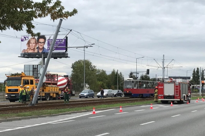 wypadek tramwaju - Toruńska Bydgoszcz - nadesłane (1)