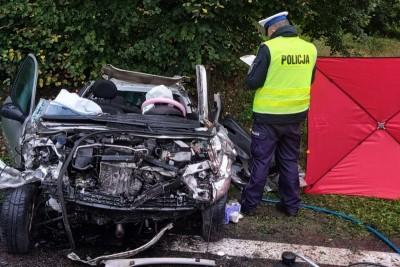 1-10-2019_ wypadek DK91 Bzowo (powiat świecki) - KPP Świecie (1)