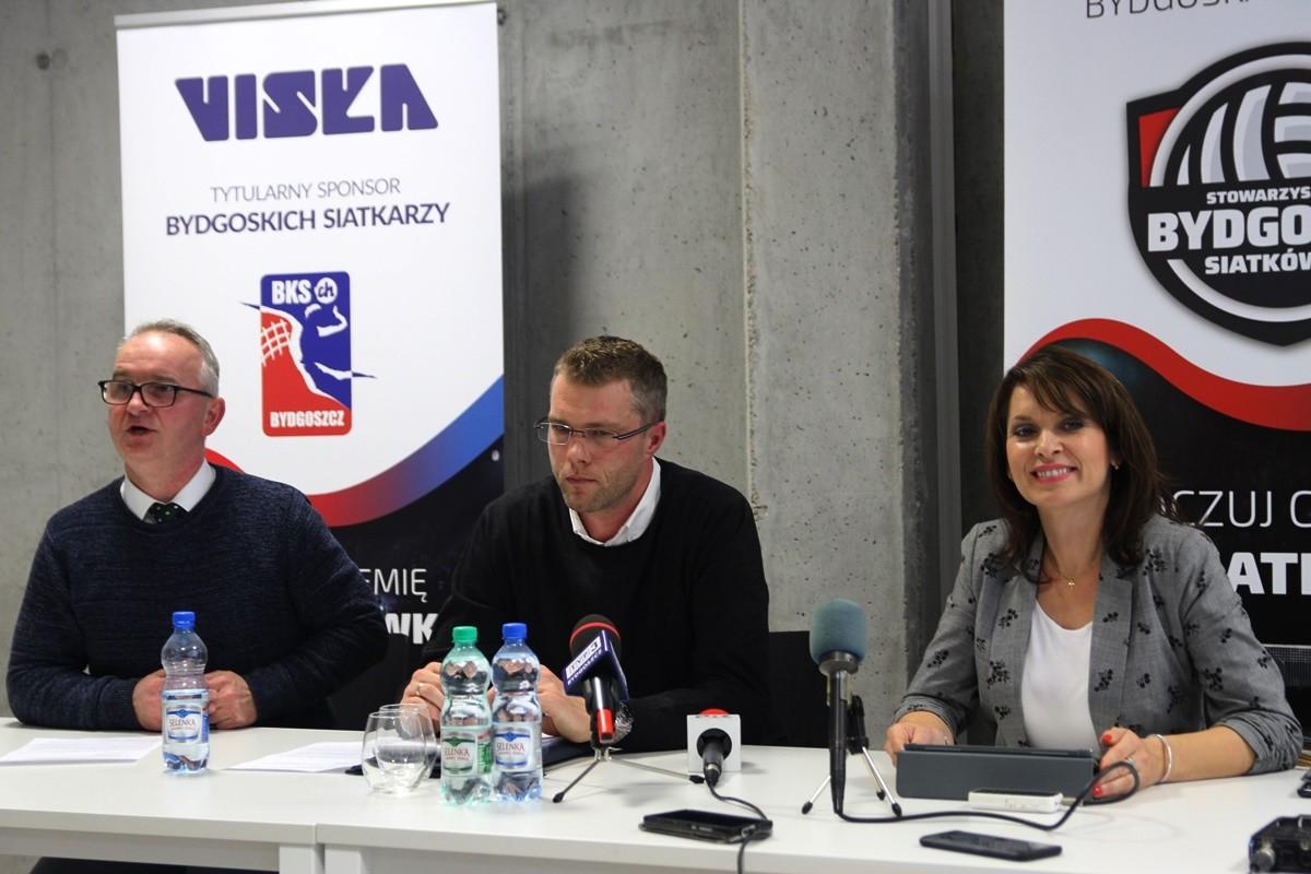 10-10-2019_ konferencja prasowa BKS Visła Bydgoszcz_ Tomasz Konieczyński, Wojciech Jurkiewicz, Ewa Kozanecka - SF