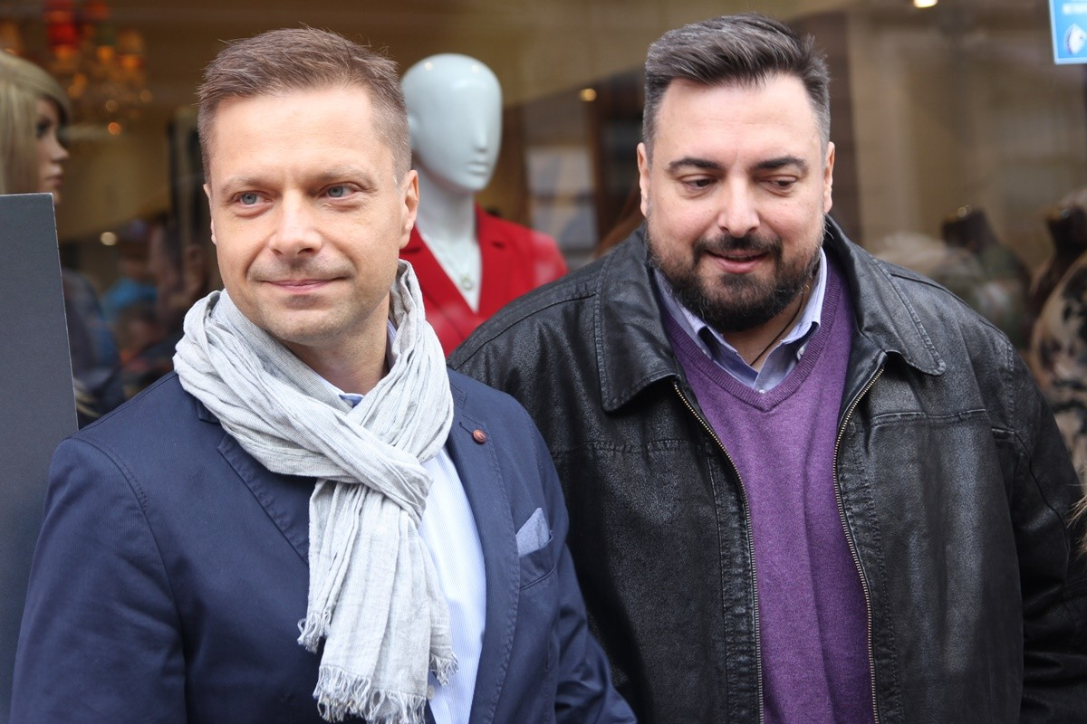 12-10-2019_ odsłonięcie autografów, Bydgoska Aleja Autografów - Tomasz Sekielski, Marek Sekielski - SF