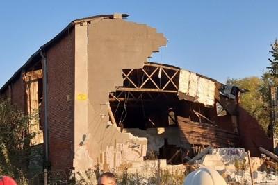 15-10-2019_ zawalenie budynku Pakość - OSP Janikowo-1