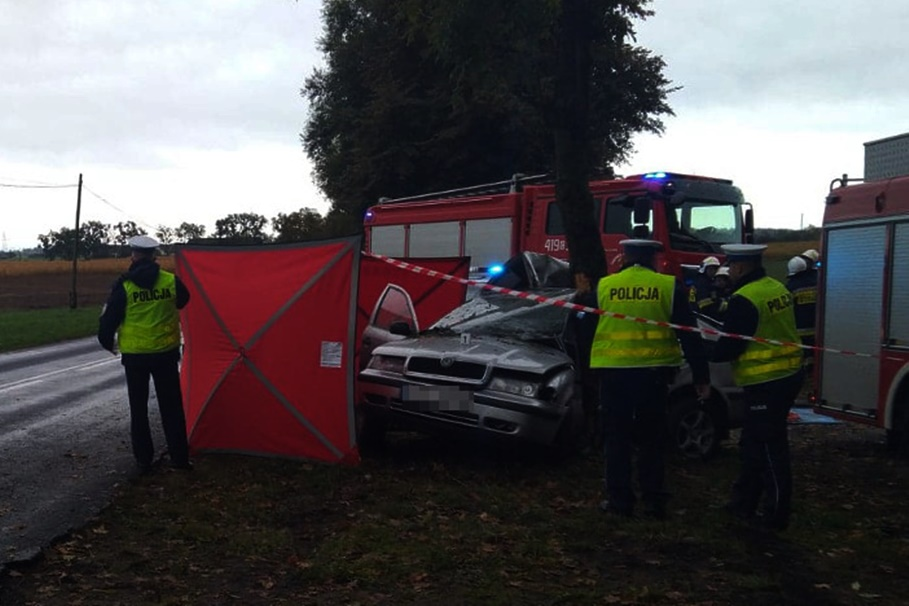 2-10-2019_ wypadek DW543 Czekanowo - KPP Brodnica (2)
