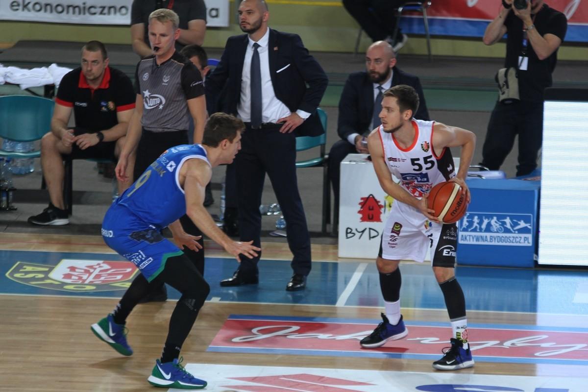 20-10-2019_ Energa Basket Liga, Immobile Łuczniczka_ Enea Astoria Bydgoszcz - Anwil Włocławek_ Marcin Nowakowski, Jakub Karolak - SF