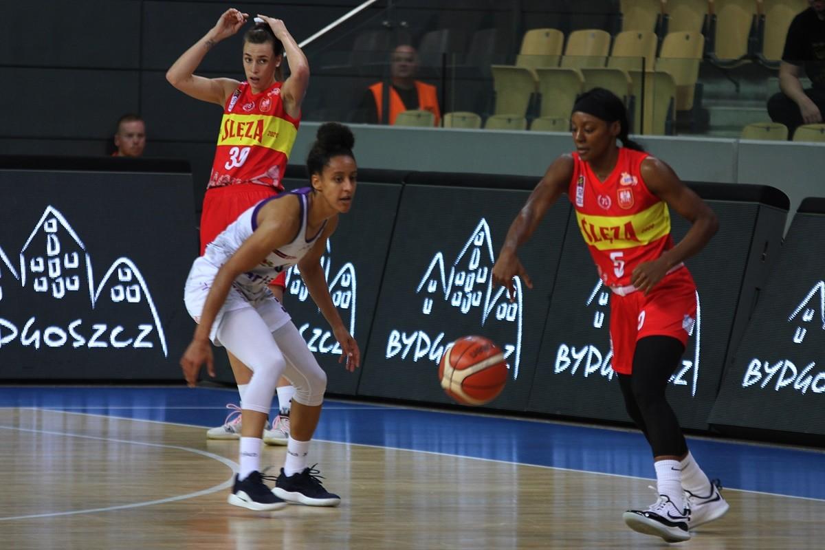 20-10-2019_ Energa Basket Liga Kobiet, Artego Arena_ Artego Bydgoszcz - Ślęza Wrocław - Brianna Kiesel, Britney Jones - JS