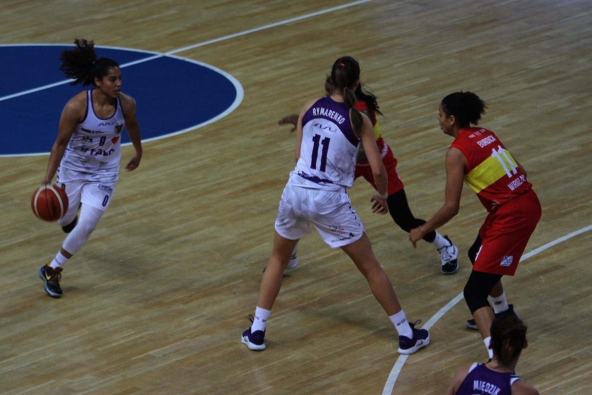 20-10-2019_ Energa Basket Liga Kobiet, Artego Arena_ Artego Bydgoszcz - Ślęza Wrocław - Jennifer O'Neill - JS