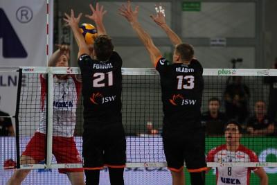 26-10-2019_ siatkówka PlusLiga BKS Visła Bydgoszcz - Jastrzębski Węgiel_ Toncek Stern, Tomasz Fornal, Jurij Gladyr - SF