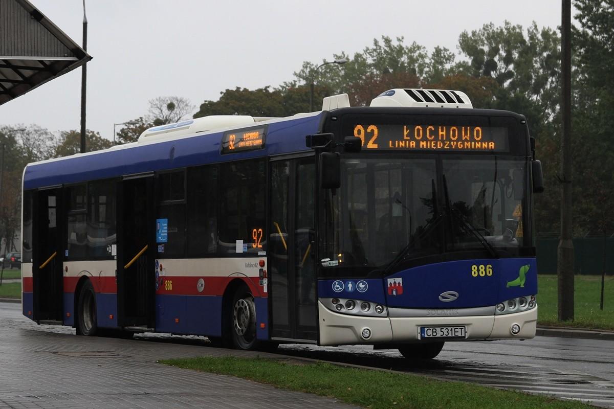 Autobus - linia międzygminna 92, kierunek Łochowo - SF