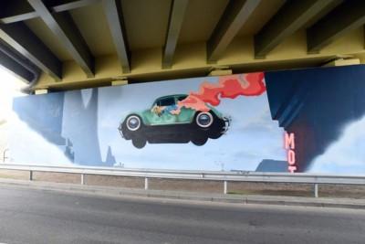 mural trasa uniwersytecka