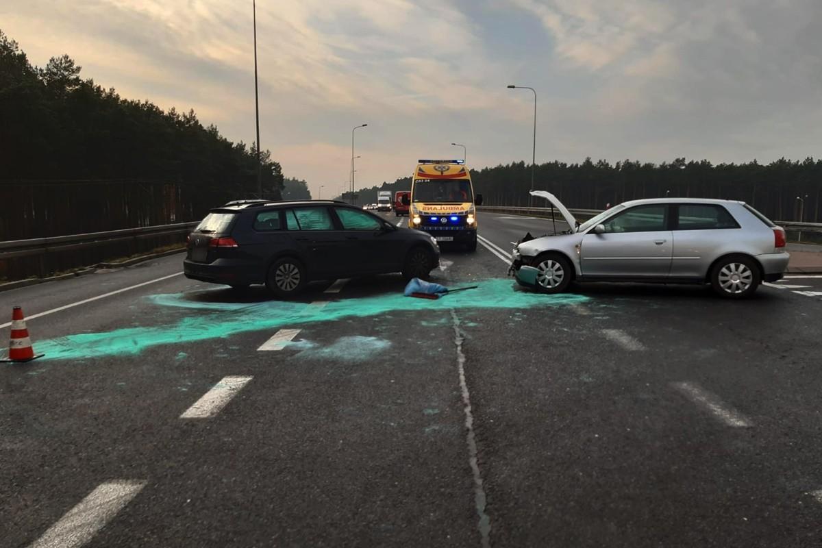 20-11-2019_ wypadek DK15 Mała Nieszawka - KMP Toruń