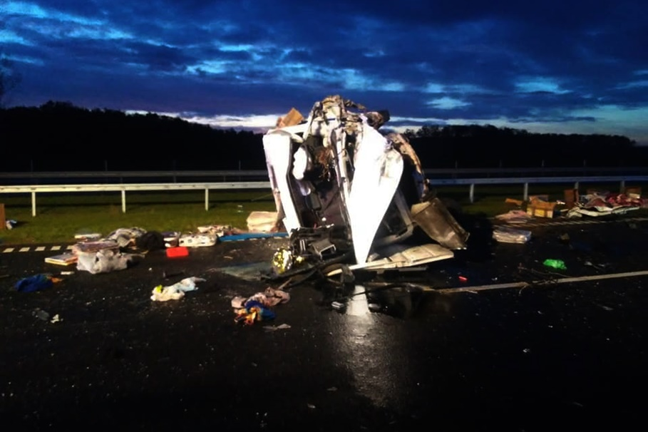 3-11-2019_ wypadek DK5 Cotoń - OSP Gąsawa