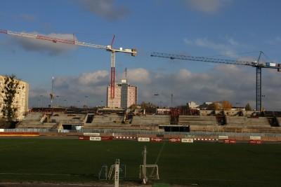 7-11-2019_ budowa trybuny - sektor B, stadion Polonii Bydgoszcz - SF