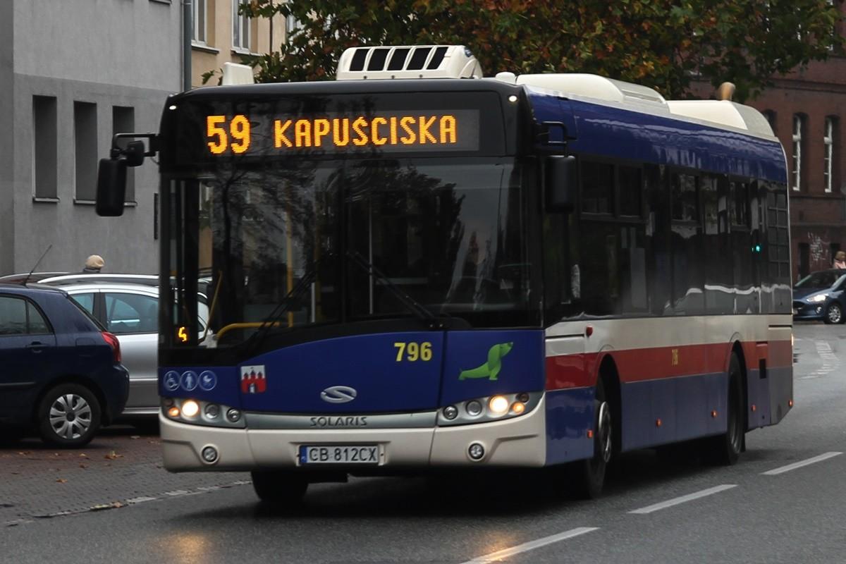 Autobus - linia 59, kierunek Kapuściska - SF
