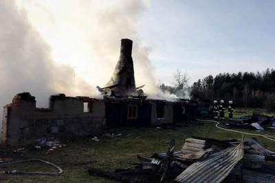16-12-2019_ pożar, Zalesie Królewskie-pow.świecki_ OSP KSRG Pruszcz-6