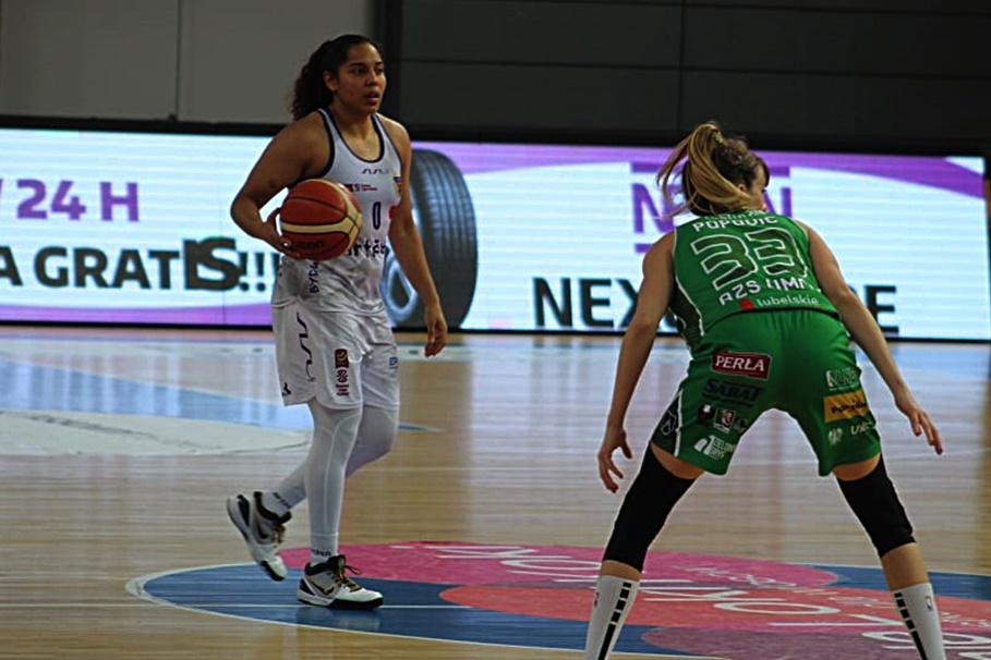 22-12-2019_ koszykówka, Energa Basket Liga Kobiet_ Artego Bydgoszcz - Pszczółka Polski Cukier AZS UMCS Lublin_ Jennifer O'Neill - JS