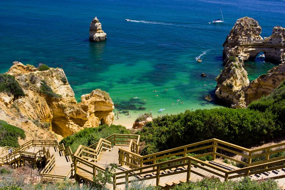 Algarve rock - coast in Portugal