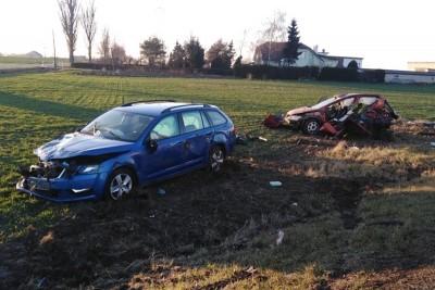 16-01-2020_ wypadek  DK91 Grzywna_ KMP Toruń