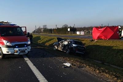 17-01-2020_ wypadek DK10 Nakło - ZK