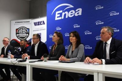 27-01-2020_ konferencja prasowa, BKS Visła Bydgoszcz, Enea_ Wojciech Jurkiewicz, Magdalena Hilszer, Ewa Kozanecka, Mirosław Jamroży, Przemysław Michalczyk - SF-1