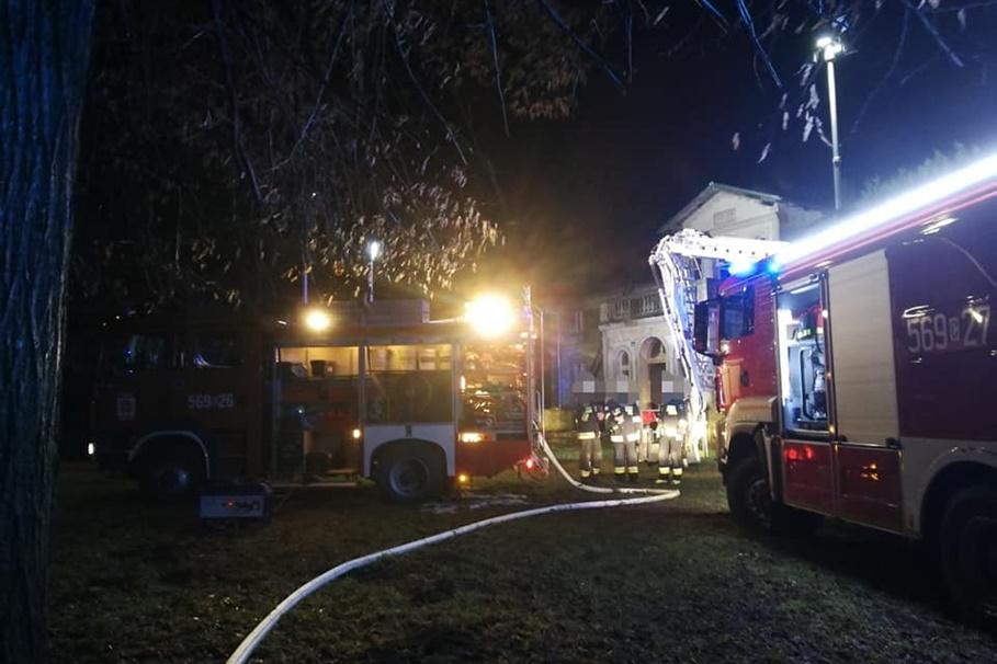 30-01-2020_ pożar, dwór Marcinkowo Dolne - OSP Gąsawa