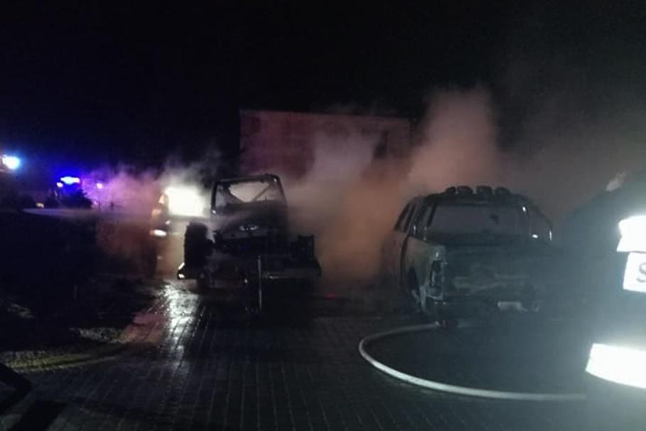 31-01-2020_ pożar Buszkowo - OSP KSRG Mąkowarsko