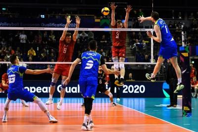 5-01-2020_siatkówka-Europejski Turniej Kwalifikacyjny-Berlin,Max-Schmelling Halle - Słowenia-Belgia_ Toncek Stern, Sam Deroo_ cev.eu-1