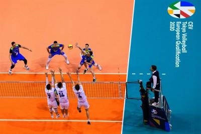 9-01-2020_siatkówka, turniej kwalifikacyjny do IO_Max Schmelling Halle Berlin_półfinał Słowenia-Francja_ Toncek Stern - cev.eu