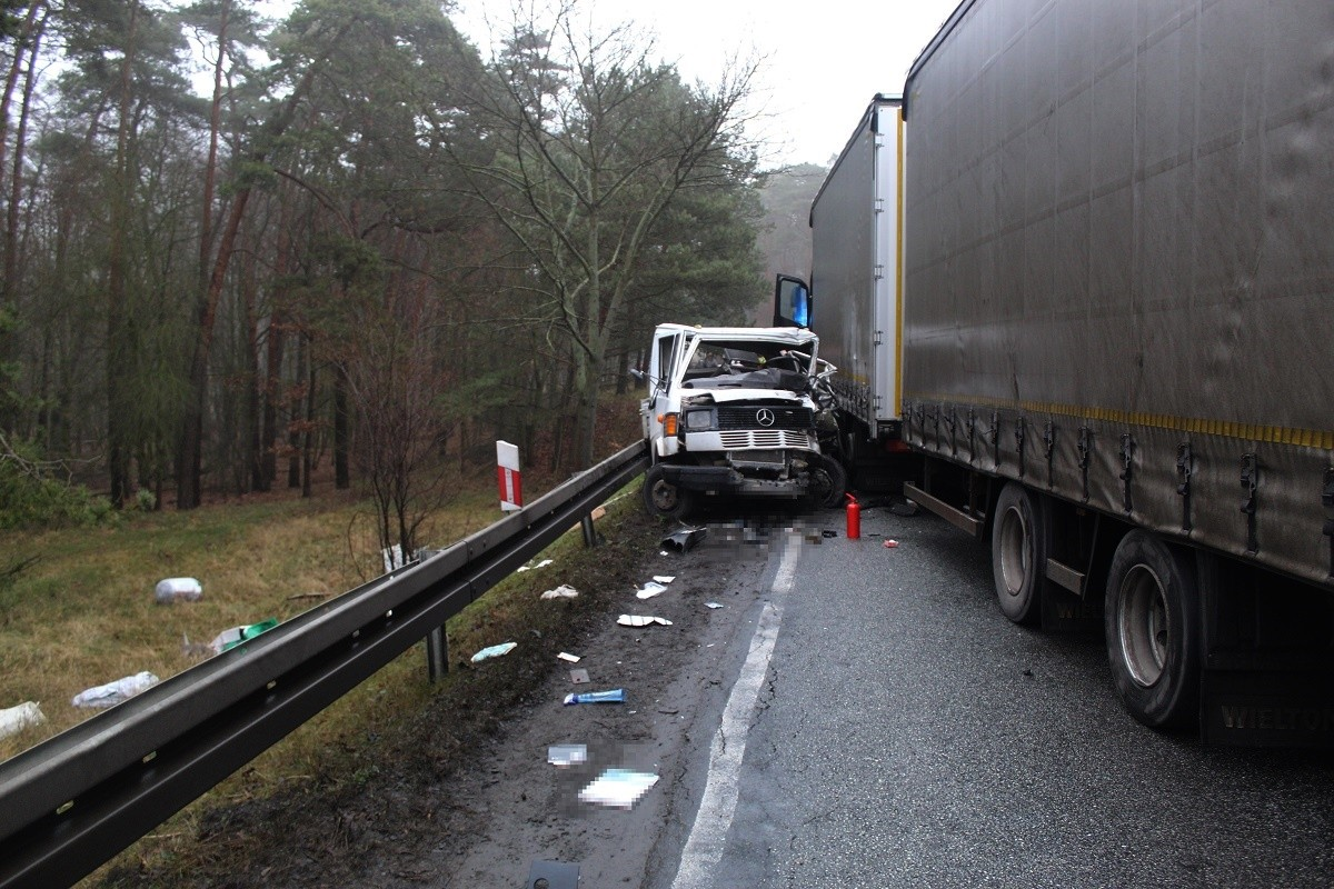 9-01-2020_wypadek, DK62 Łuba_ KMP Włocławek