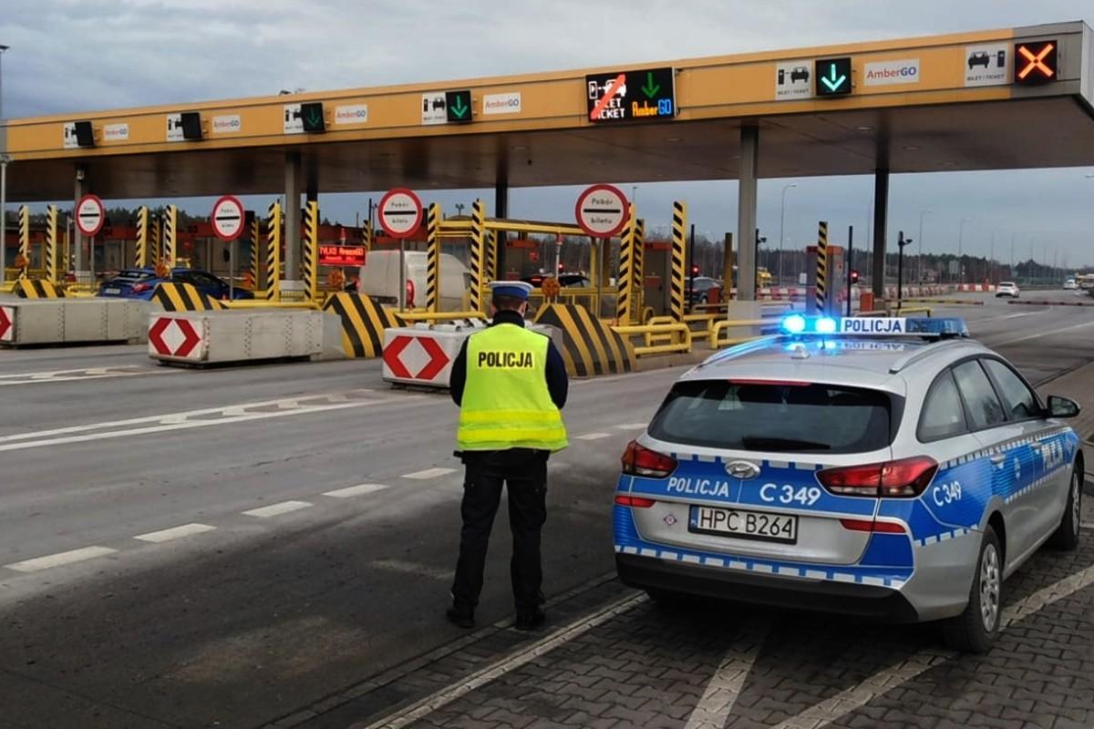 Autostrada A1 kujawsko-pomorskie, kontrola, policja - KMP Toruń-1
