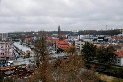 Bydgoszcz - widok z koła młyńskiego_ Mostowa - SF