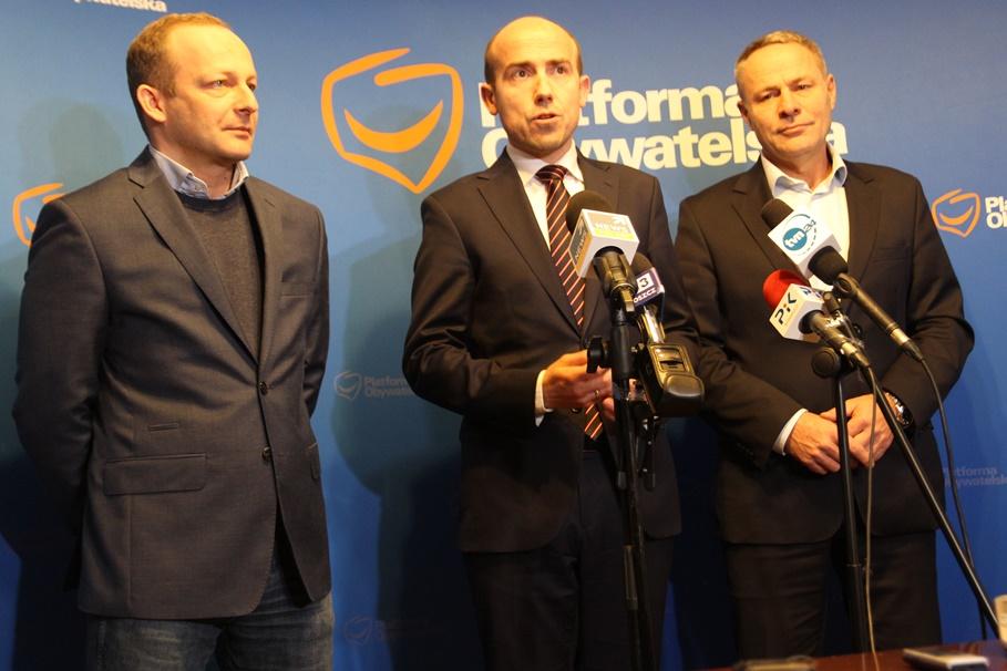 Platforma Obywatelska_ Paweł Olszewski, Borys Budka, Rafał Bruski - SF