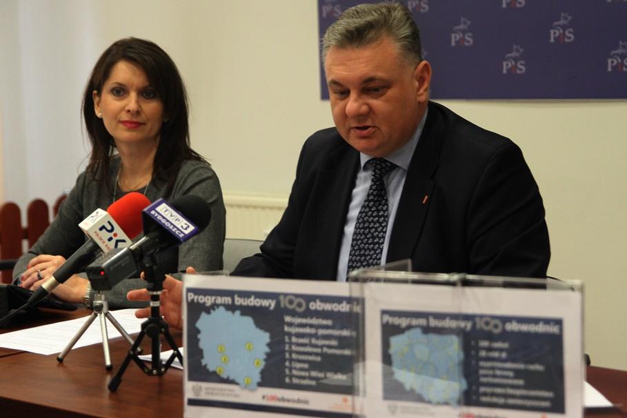 10-02-2020_ konferencja prasowa_ Prawo i Sprawiedliwość Bydgoszcz- Ewa Kozanecka, Piotr Król - SF