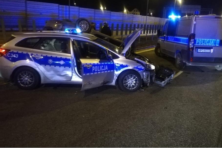 wypadek policja a1
